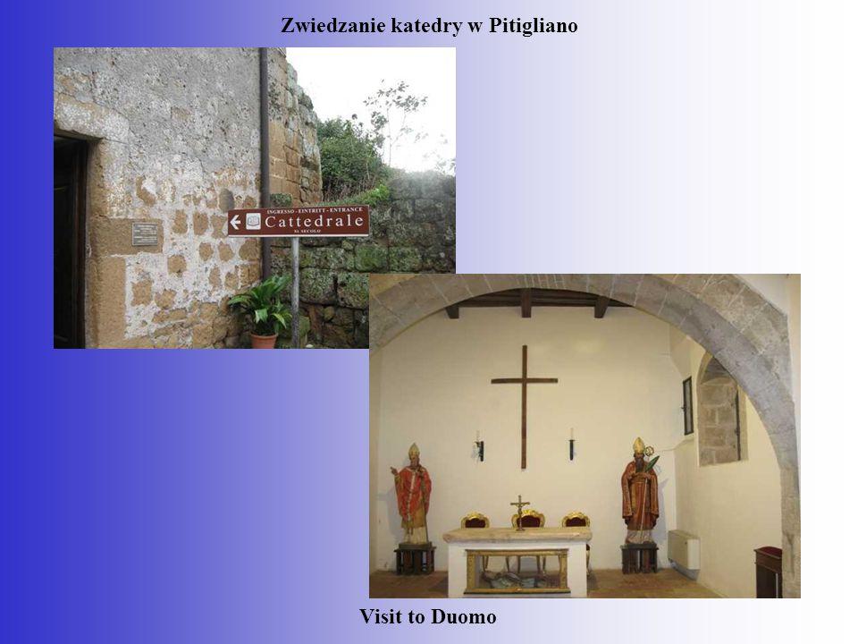 Zwiedzanie katedry w Pitigliano Visit to Duomo