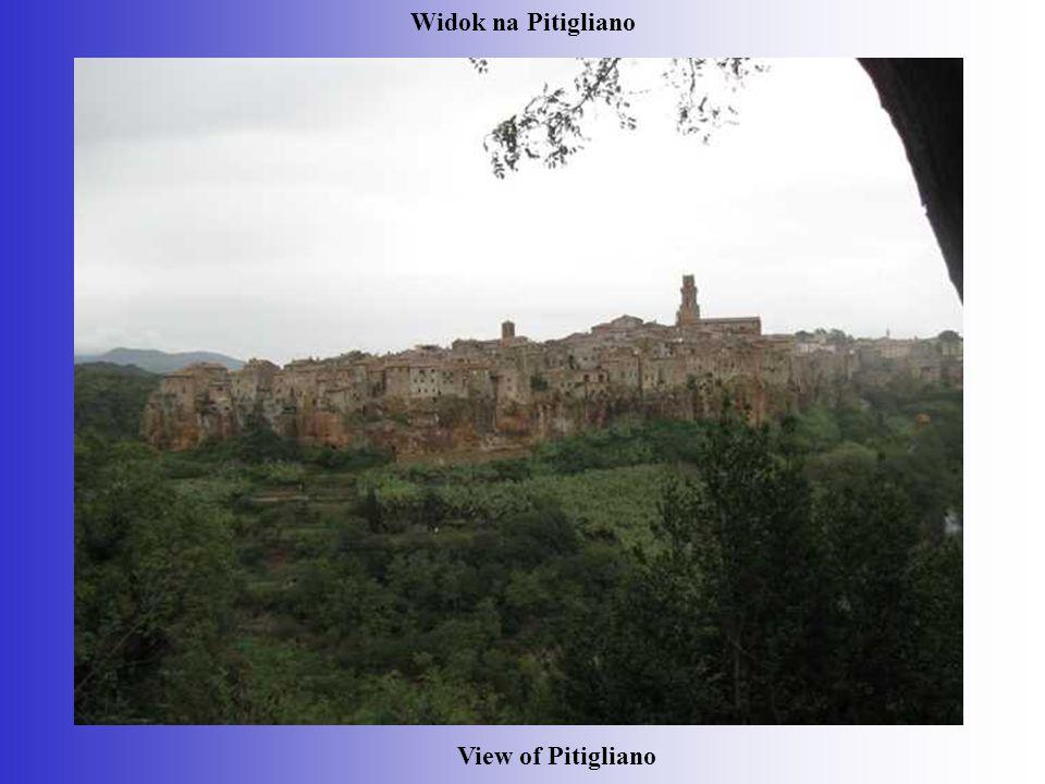 Widok na Pitigliano View of Pitigliano