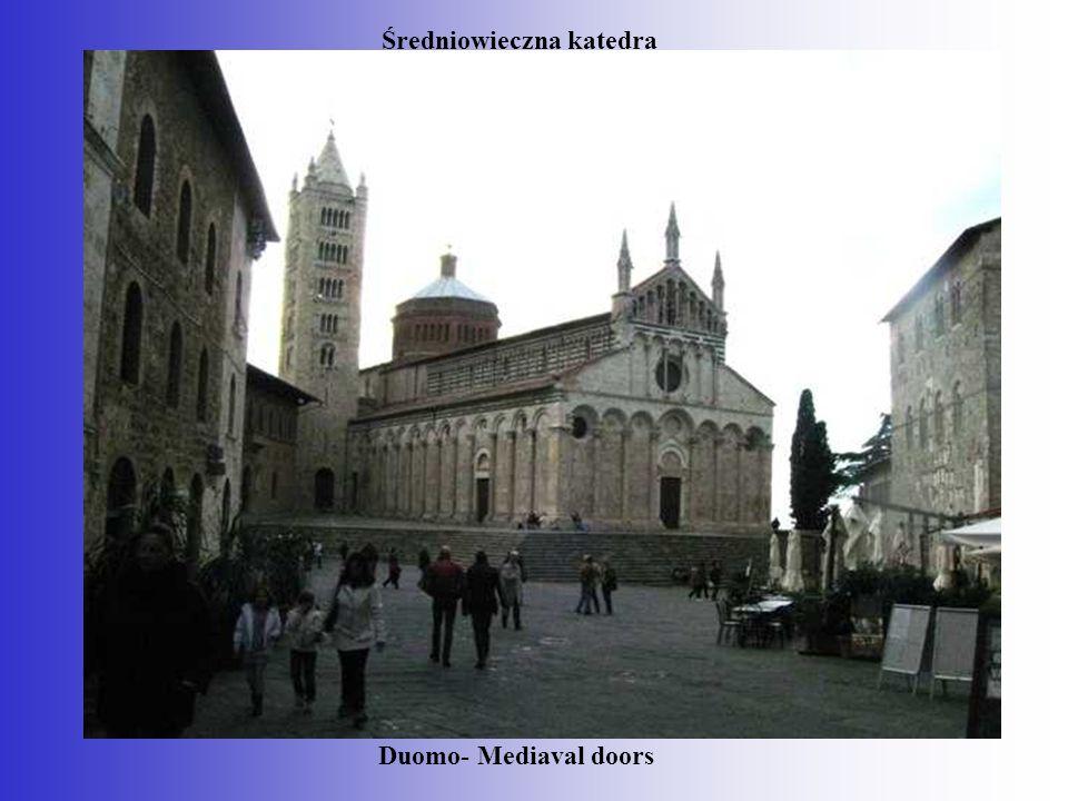 Średniowieczna katedra Duomo- Mediaval doors