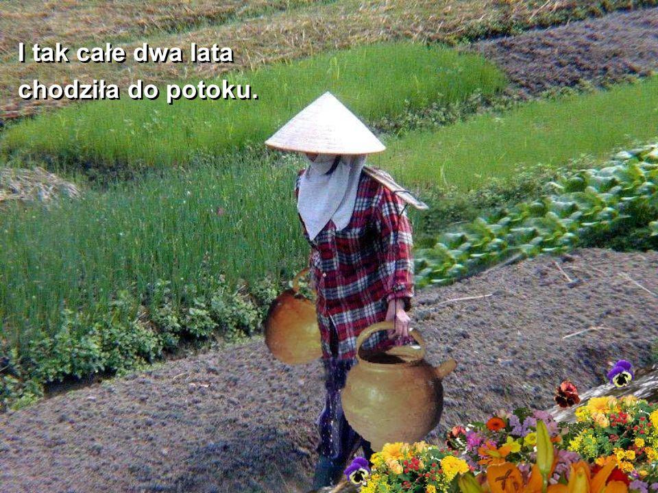 Na końcu drogi, koło jej domu w pękniętym naczyniu zawsze była tylko połowa wody.