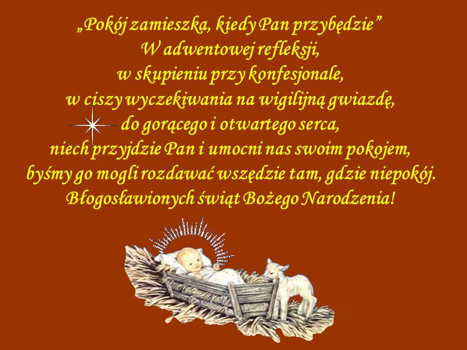 W małym Świętym Dziecku Bóg daje nam Zbawienie. niech Gwiazda Betlejemska zwiastuje nam, w sercu na nowo tę Dobrą Nowinę, niech się rozraduje serce i