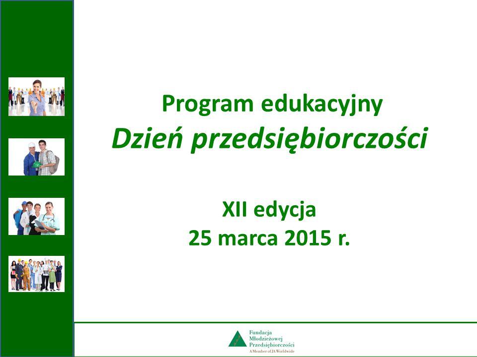 Program edukacyjny Dzień przedsiębiorczości XII edycja 25 marca 2015 r.