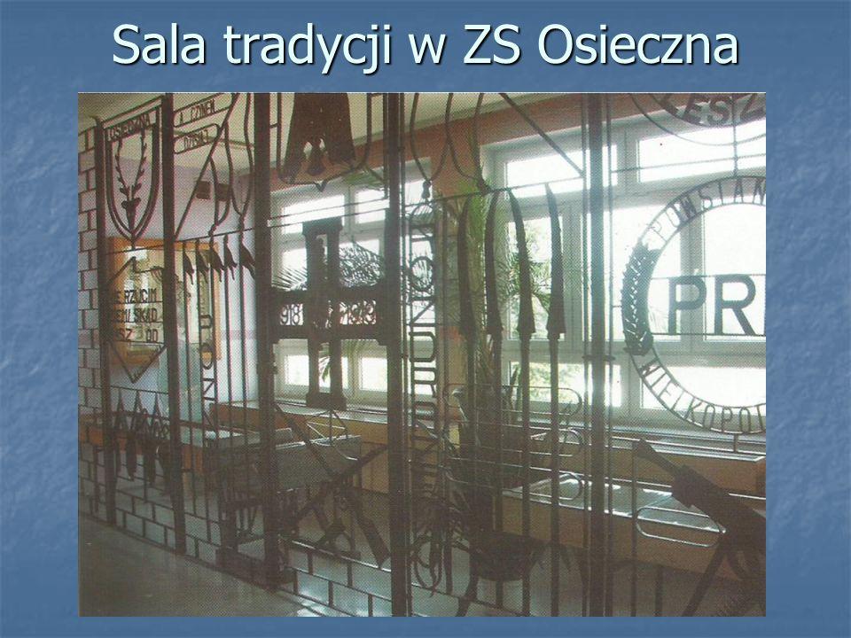Sala tradycji w ZS Osieczna