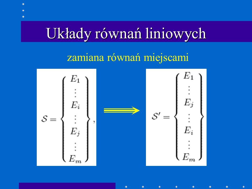 Eliminacja Gaussa: przypadek ogólny macierz w postaci schodkowej