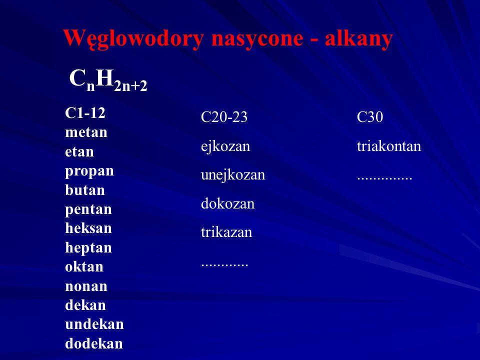 Nomenklatura wybranych związków organicznych