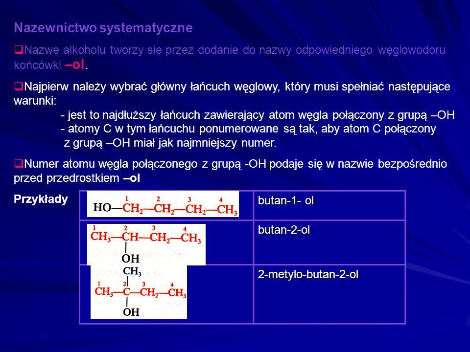 Alkohole mające dwie lub więcej grup wodorotlenowych -OH przyłączonych do różnych atomów węgla. W zależności od liczby grup -OH, dzielimy je na diole,