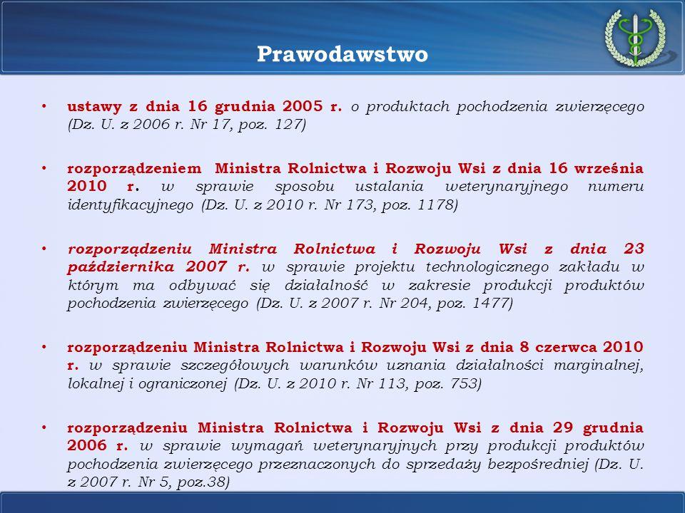 Prawodawstwo Instrukcja Głównego Lekarza Weterynarii Nr GIWhig-500-3/08 z dnia 20 marca 2008 r.