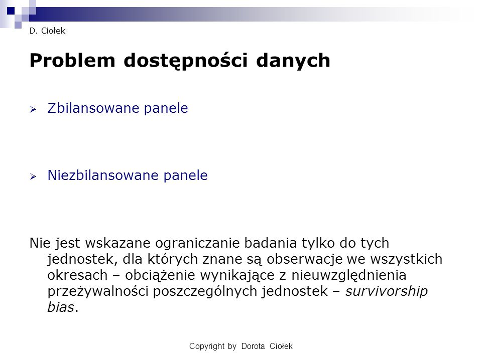 Copyright by Dorota Ciołek27 D.