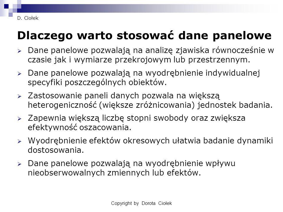 Copyright by Dorota Ciołek29 D.