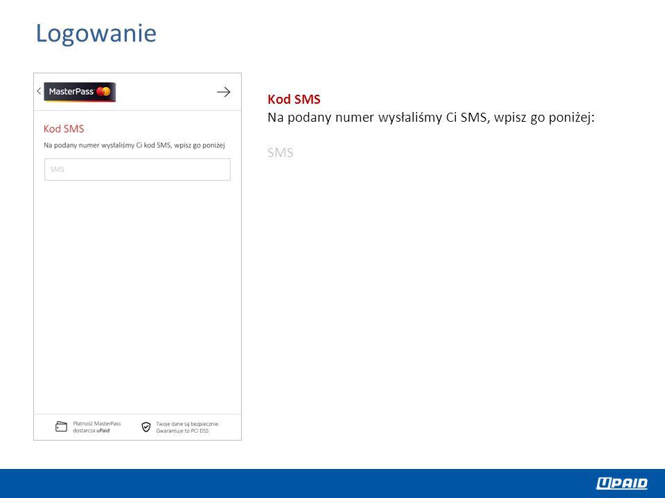 Kod SMS Na podany numer wysłaliśmy Ci SMS, wpisz go poniżej: SMS Logowanie