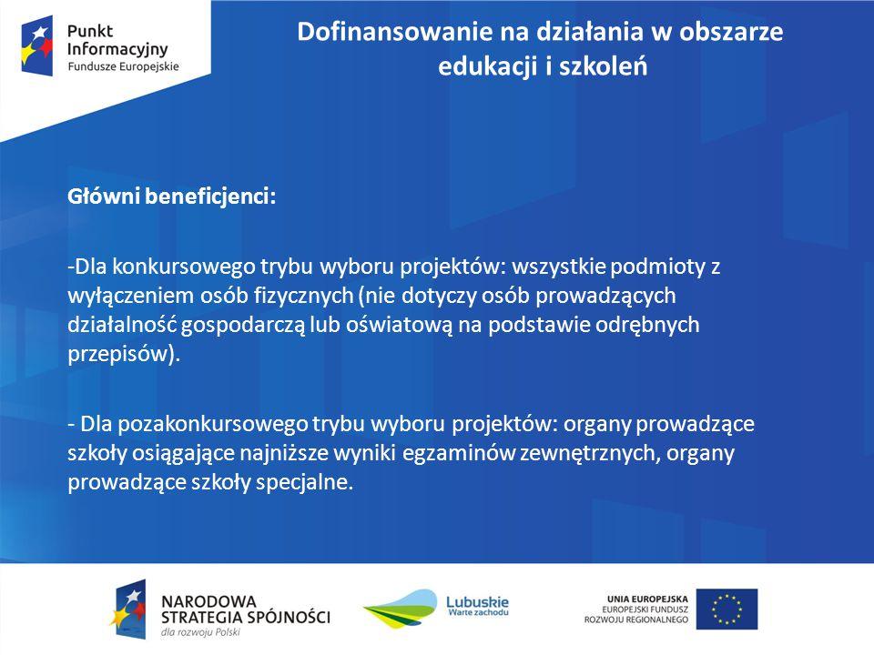 Program Operacyjny Wiedza Edukacja Rozwój 2014-2020 Oś I osoby młode na rynku pracy Cel 1.