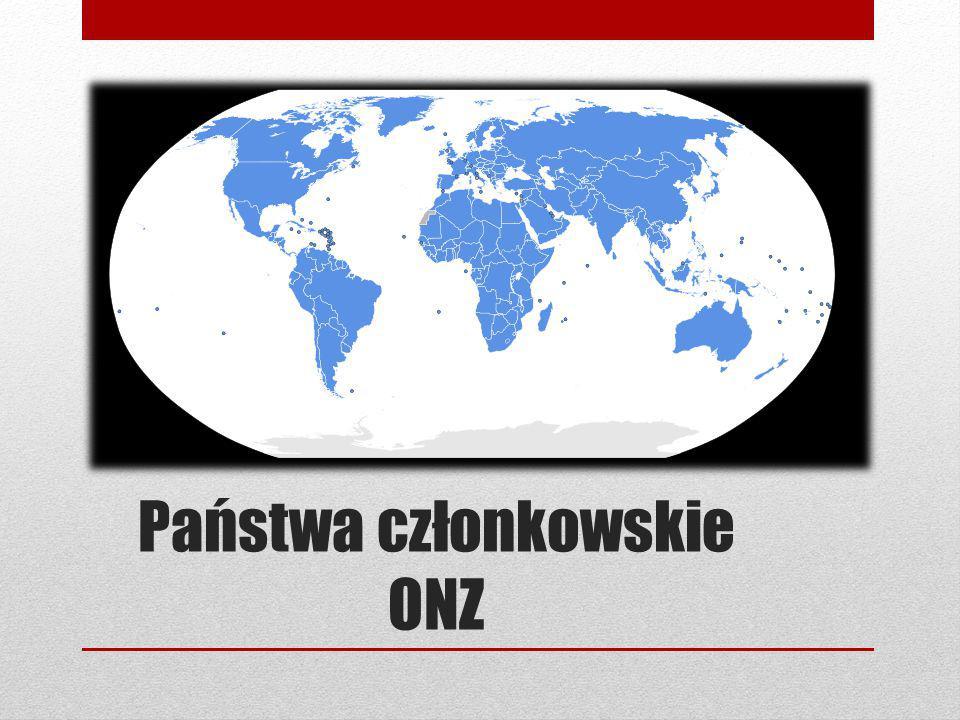 Cele ONZ 1)Utrzymanie międzynarodowego pokoju i bezpieczeństwa za pomocą zbiorowych i pokojowych wysiłków.