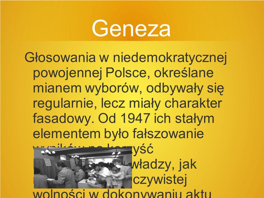 Zasady ogólne wyborów Nowa ordynacja wyborcza do Sejmu PRL uwzględniała zasady powszechności, równości, bezpośredniości i tajności głosowania.