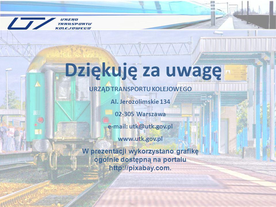 URZĄD TRANSPORTU KOLEJOWEGO Al. Jerozolimskie 134 02-305 Warszawa e-mail: utk@utk.gov.pl www.utk.gov.pl W prezentacji wykorzystano grafikę ogólnie dos