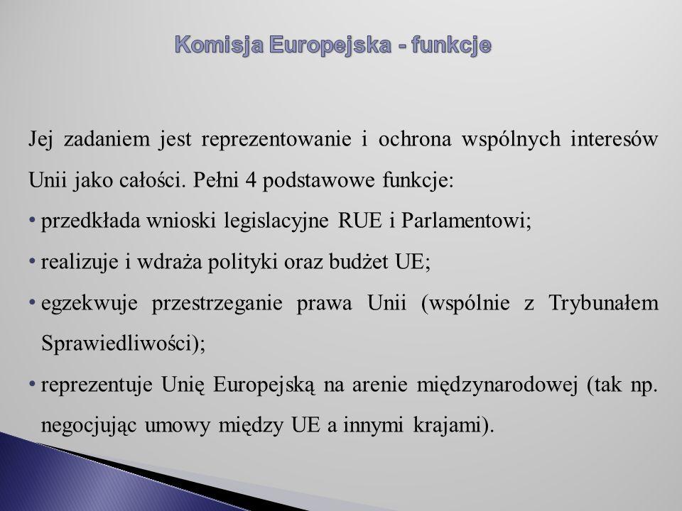 Jej zadaniem jest reprezentowanie i ochrona wspólnych interesów Unii jako całości.