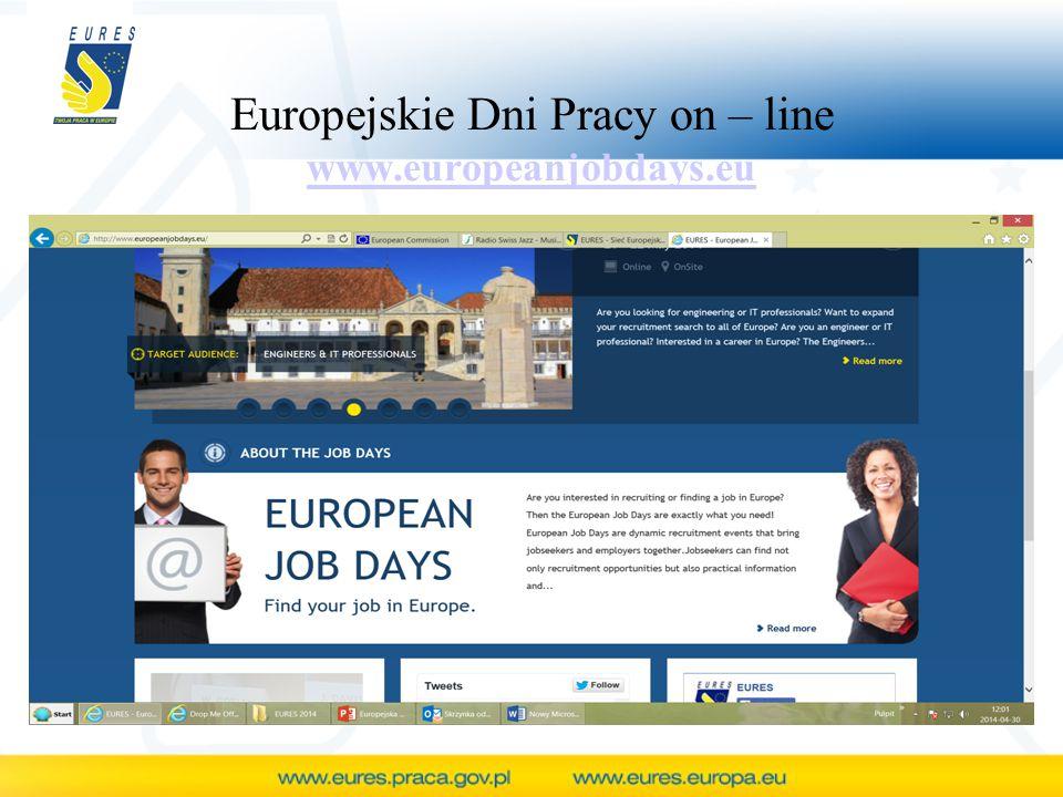 Europejskie Dni Pracy on – line www.europeanjobdays.eu www.europeanjobdays.eu