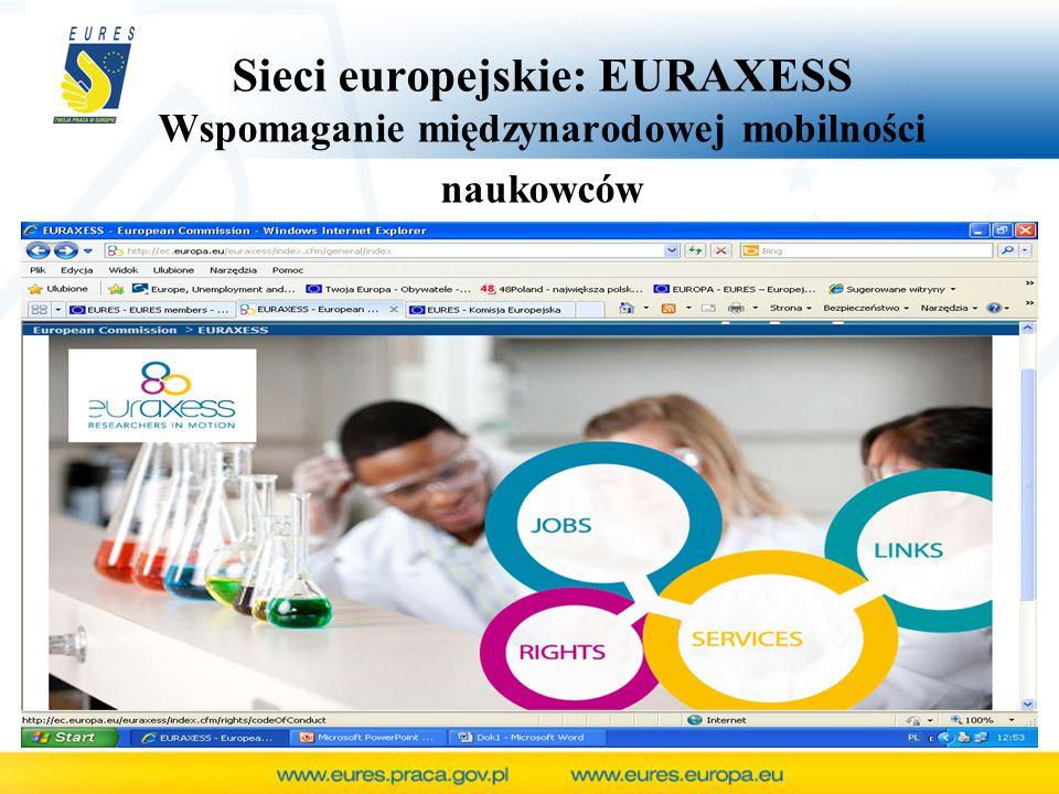 Sieci europejskie: EURAXESS Wspomaganie międzynarodowej mobilności naukowców