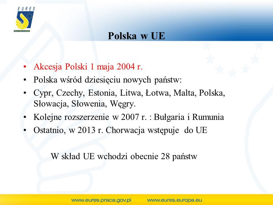 Polska w UE Akcesja Polski 1 maja 2004 r. Polska wśród dziesięciu nowych państw: Cypr, Czechy, Estonia, Litwa, Łotwa, Malta, Polska, Słowacja, Słoweni