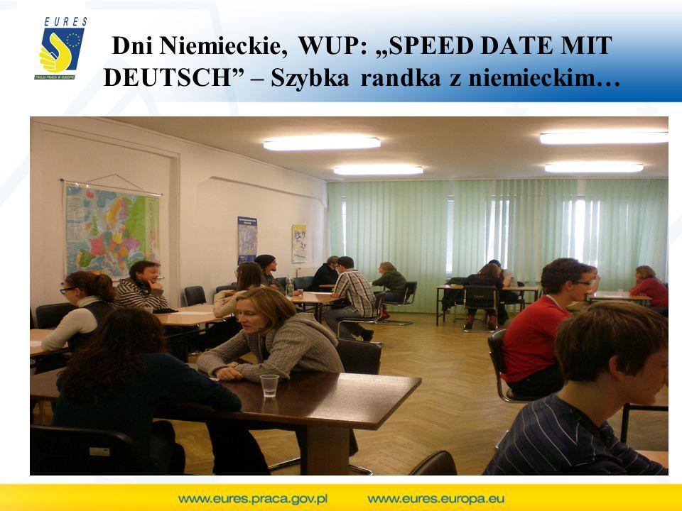 "Dni Niemieckie, WUP: ""SPEED DATE MIT DEUTSCH"" – Szybka randka z niemieckim…"