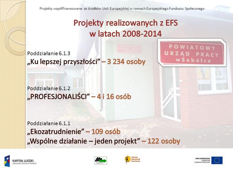 Projekty współfinansowane ze środków Unii Europejskiej w ramach Europejskiego Funduszu Społecznego