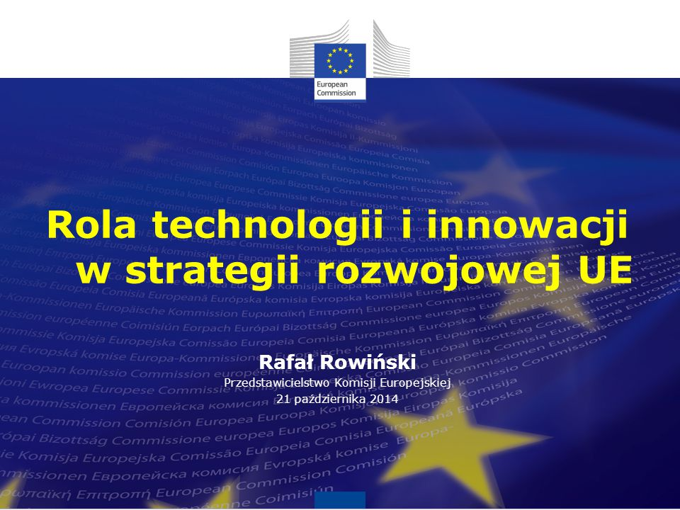1 Innowacja kluczem do konkurencyjności Index globalnej konkurencyjności, a wskaźnik innowacyjności Prezentacja J.M.