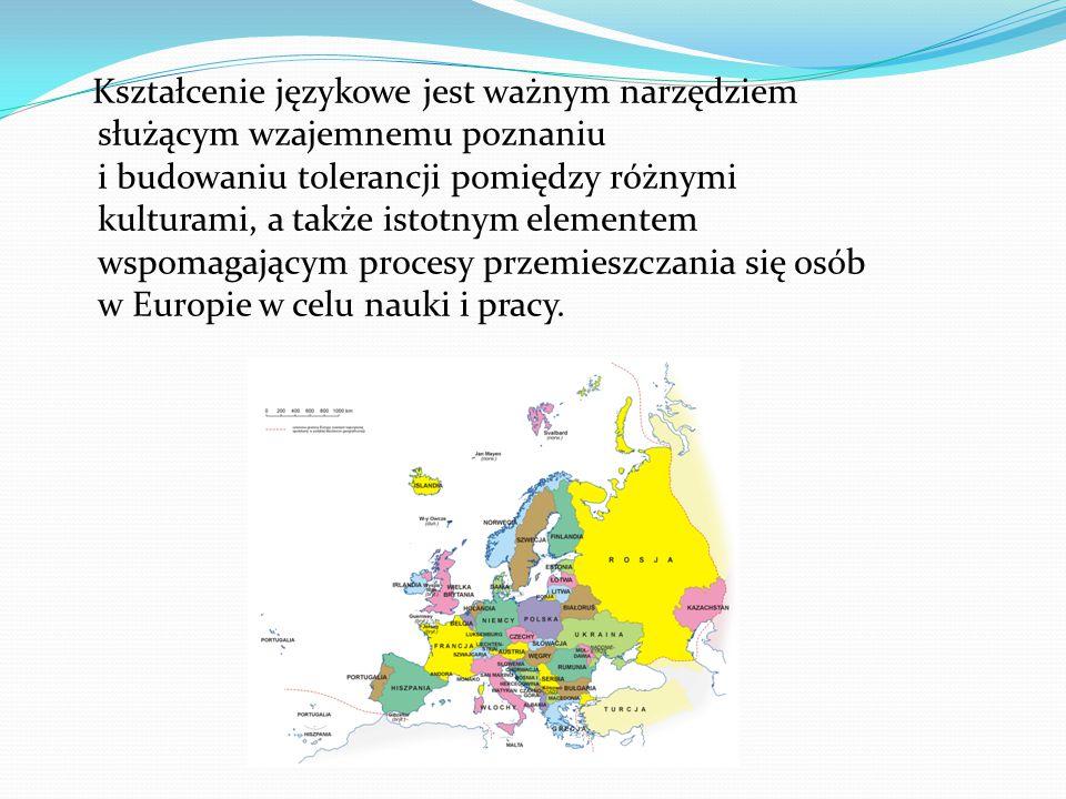 Kształcenie językowe jest ważnym narzędziem służącym wzajemnemu poznaniu i budowaniu tolerancji pomiędzy różnymi kulturami, a także istotnym elementem