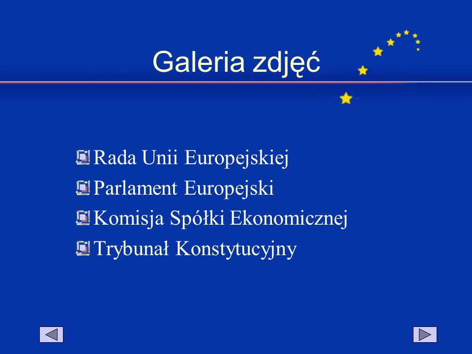 Galeria zdjęć Rada Unii Europejskiej Parlament Europejski Komisja Spółki Ekonomicznej Trybunał Konstytucyjny