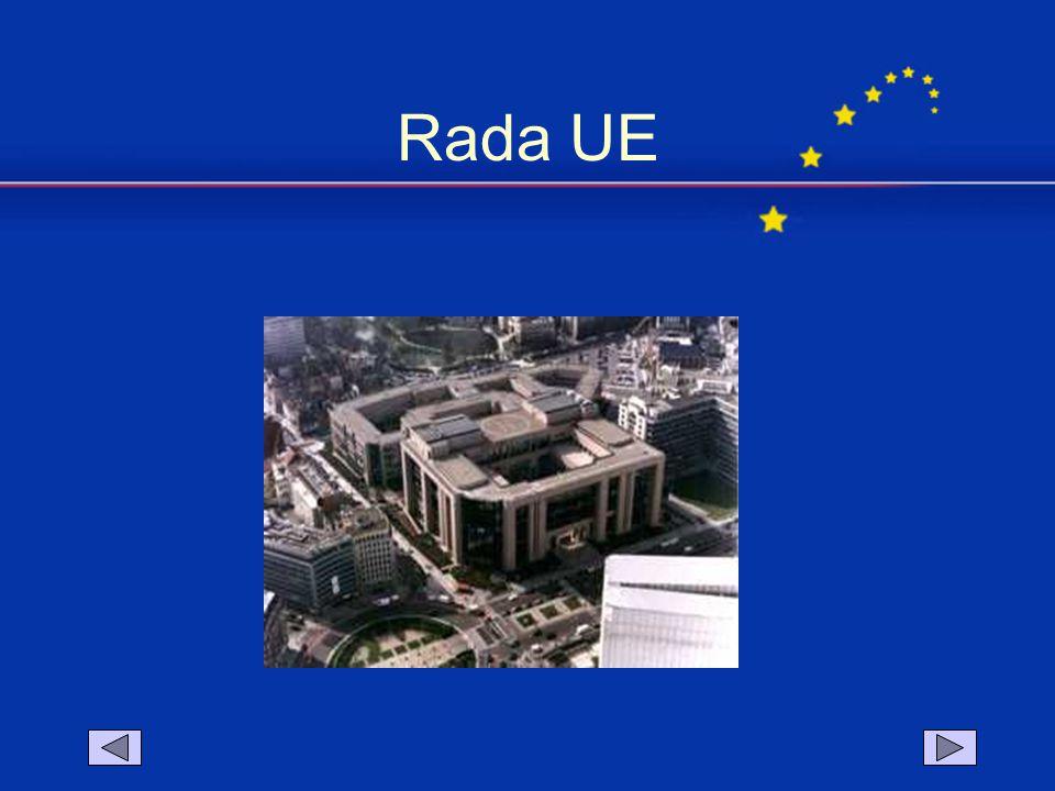  organ międzyrządowy - główna instytucja decyzyjna w Unii Europejskiej,  w skład wchodzą MINISTROWIE delegowani przez poszczególne państwa członkowskie według kompetencji.