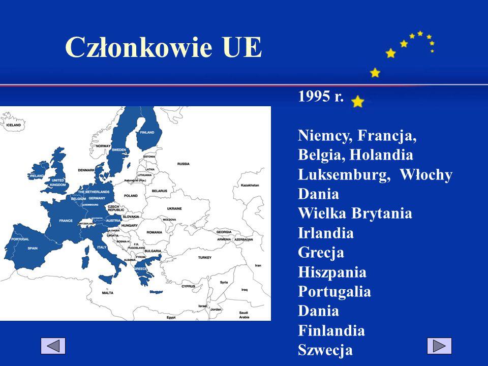 2004 r.Cypr, Czechy, Estonia, Litwa, Łotwa, Malta, Polska, Słowacja, Słowenia, Węgry 2007 r.