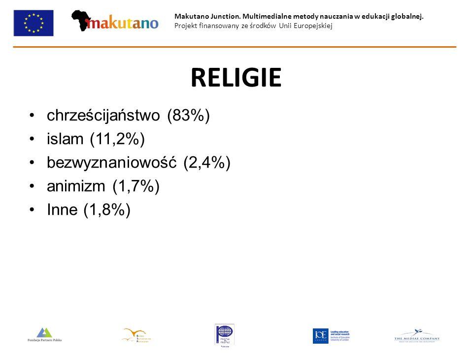 Makutano Junction. Multimedialne metody nauczania w edukacji globalnej. Projekt finansowany ze środków Unii Europejskiej RELIGIE chrześcijaństwo (83%)