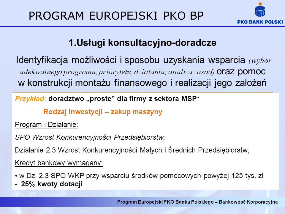 Program Europejski PKO Banku Polskiego – Bankowość Korporacyjna 2.