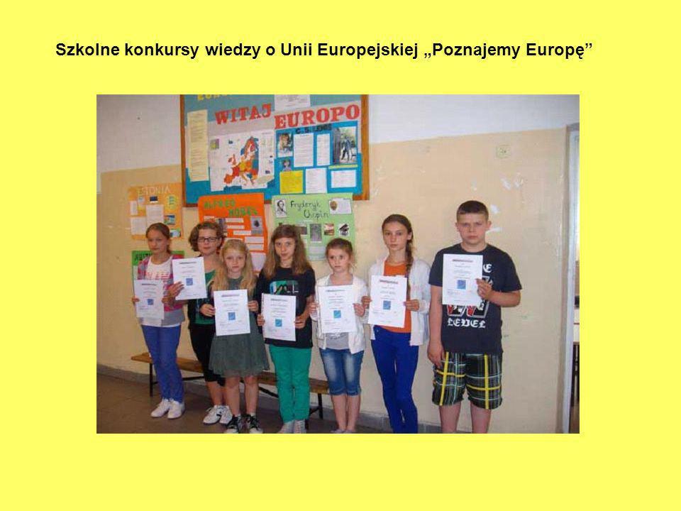 """Szkolne konkursy wiedzy o Unii Europejskiej """"Poznajemy Europę"""