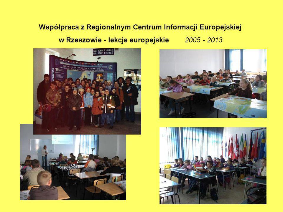 Współpraca z Regionalnym Centrum Informacji Europejskiej w Rzeszowie - lekcje europejskie 2005 - 2013
