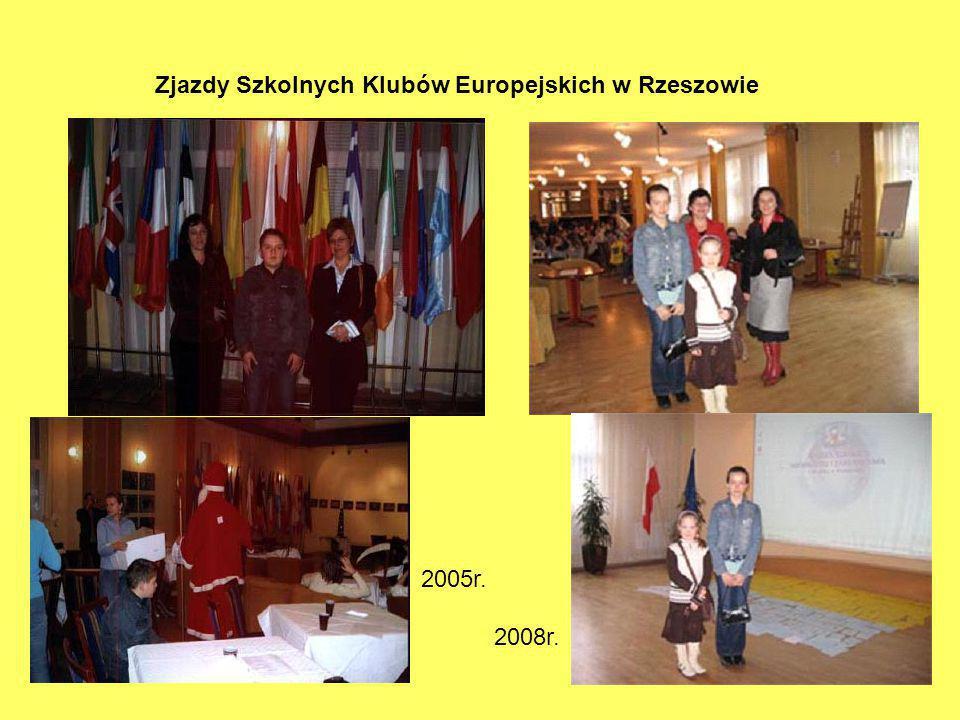 Zjazdy Szkolnych Klubów Europejskich w Rzeszowie 2005r. 2008r.