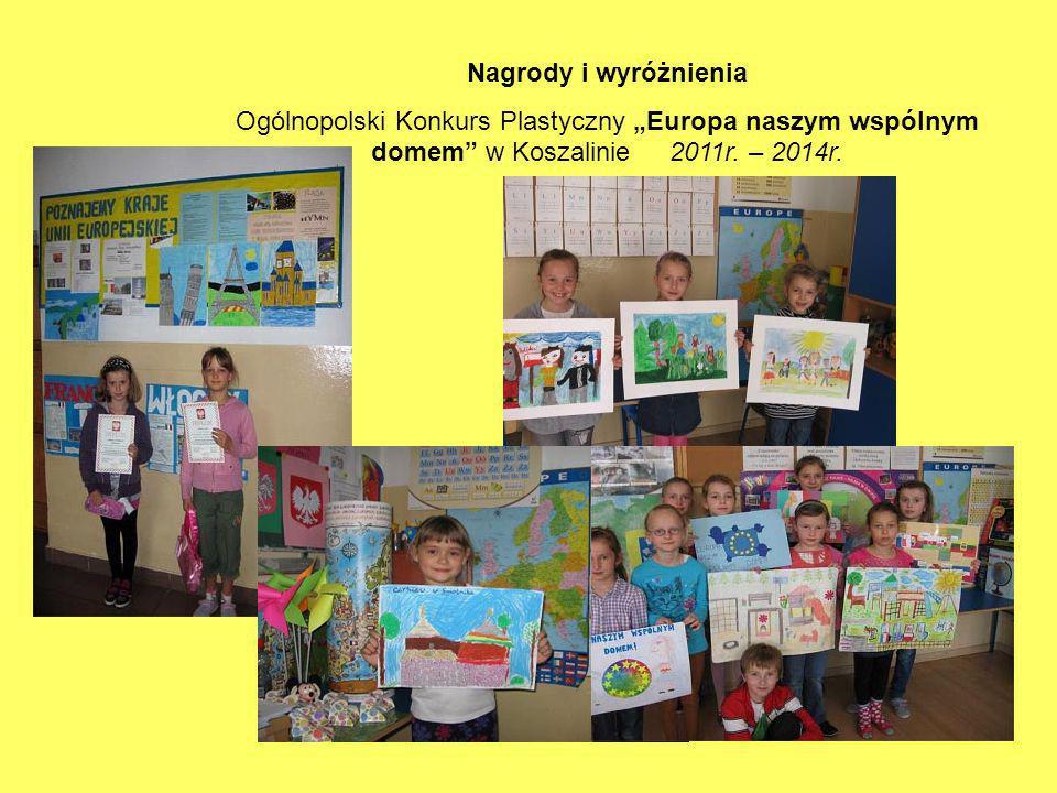 """Nagrody i wyróżnienia Ogólnopolski Konkurs Plastyczny """"Europa naszym wspólnym domem w Koszalinie 2011r."""