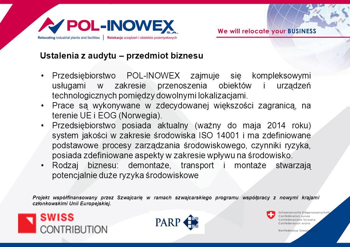 Przedsiębiorstwo POL-INOWEX zajmuje się kompleksowymi usługami w zakresie przenoszenia obiektów i urządzeń technologicznych pomiędzy dowolnymi lokalizacjami.