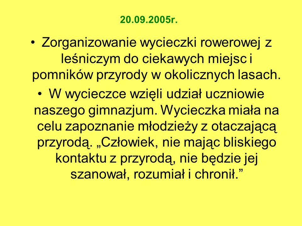 """MAJ 2006 WYCIECZKA DO PARKU KRAJOBRAZOWEGO """"ŁUK MUŻAKOWA"""