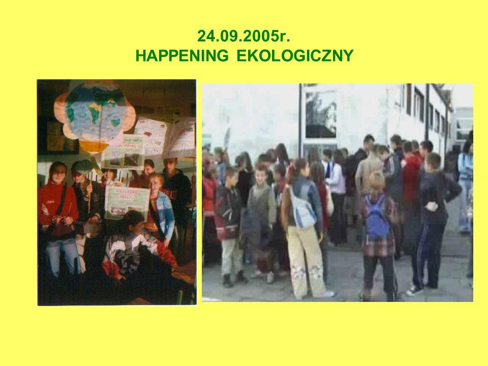 WRZESIEŃ 2005 ZAINICJOWANIE ZBIÓRKI MAKULATURY I PUSZEK ALUMINIOWYCH WSRÓD UCZNIÓW I NAUCZYCIELI NASZEJ SZKOŁY ORAZ RODZICÓW I LUDNOŚCI LOKALNEJ.