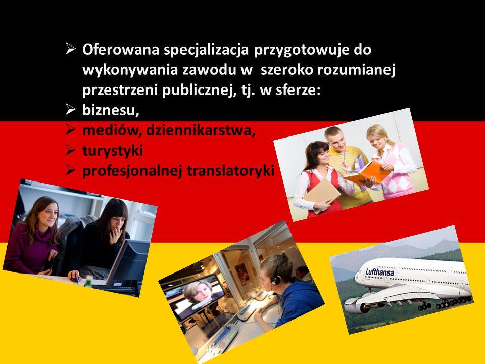  Oferowana specjalizacja przygotowuje do wykonywania zawodu w szeroko rozumianej przestrzeni publicznej, tj.
