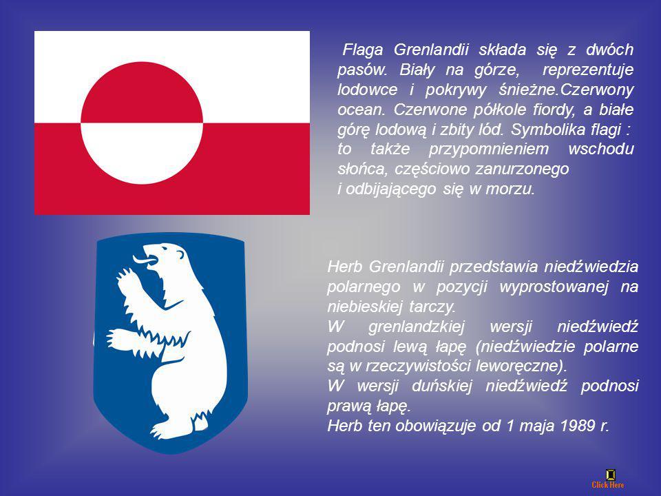 Flaga Grenlandii składa się z dwóch pasów.