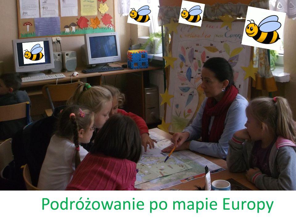 Drzewo jako symbol Europy Uczniowie wykonali pracę plastyczną przedstawiającą drzewo (symbolizujące Europę), na którego konarach umieścili flagi państw należących do UE