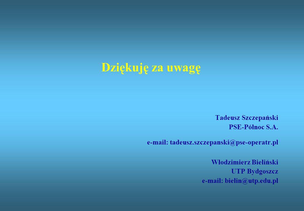 Dziękuję za uwagę Tadeusz Szczepański PSE-Północ S.A. e-mail: tadeusz.szczepanski@pse-operatr.pl Włodzimierz Bieliński UTP Bydgoszcz e-mail: bielin@ut