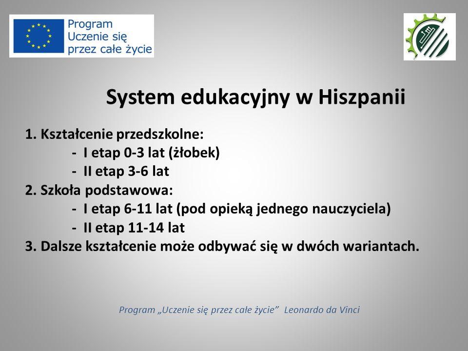 1. Kształcenie przedszkolne: - I etap 0-3 lat (żłobek) - II etap 3-6 lat 2.
