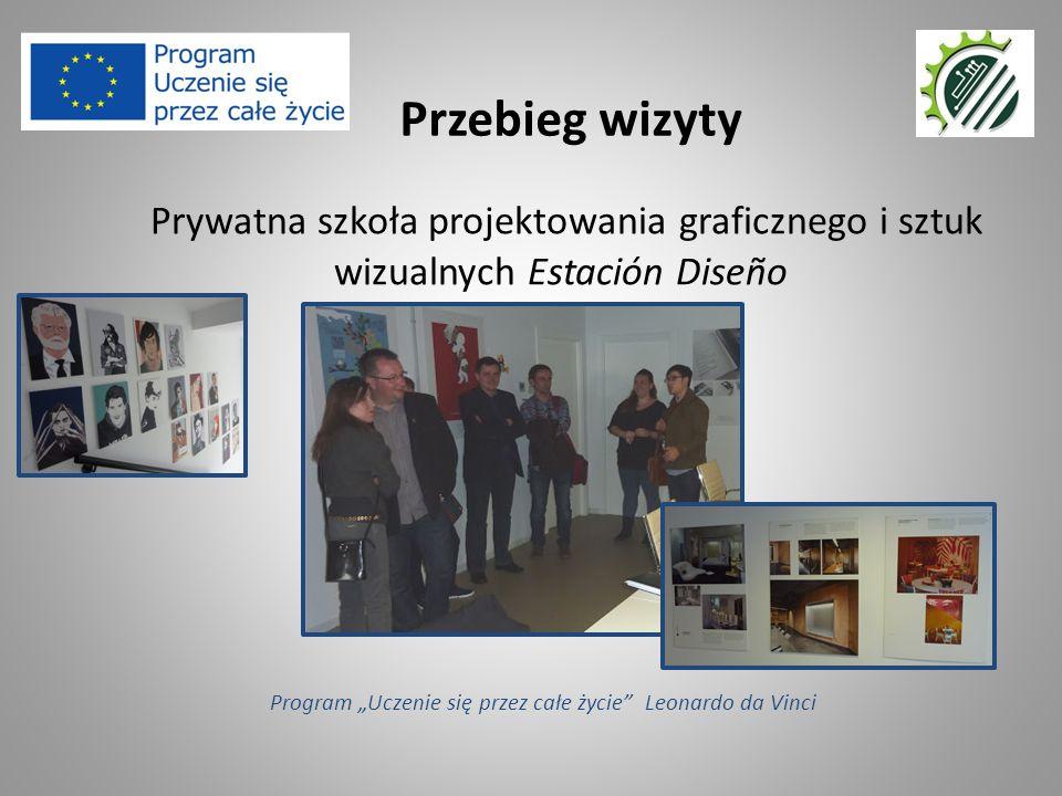 """Prywatna szkoła projektowania graficznego i sztuk wizualnych Estación Diseño Przebieg wizyty Program """"Uczenie się przez całe życie"""" Leonardo da Vinci"""