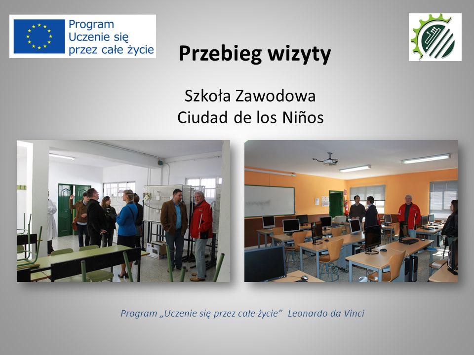 """Szkoła Zawodowa Ciudad de los Niños Przebieg wizyty Program """"Uczenie się przez całe życie"""" Leonardo da Vinci"""