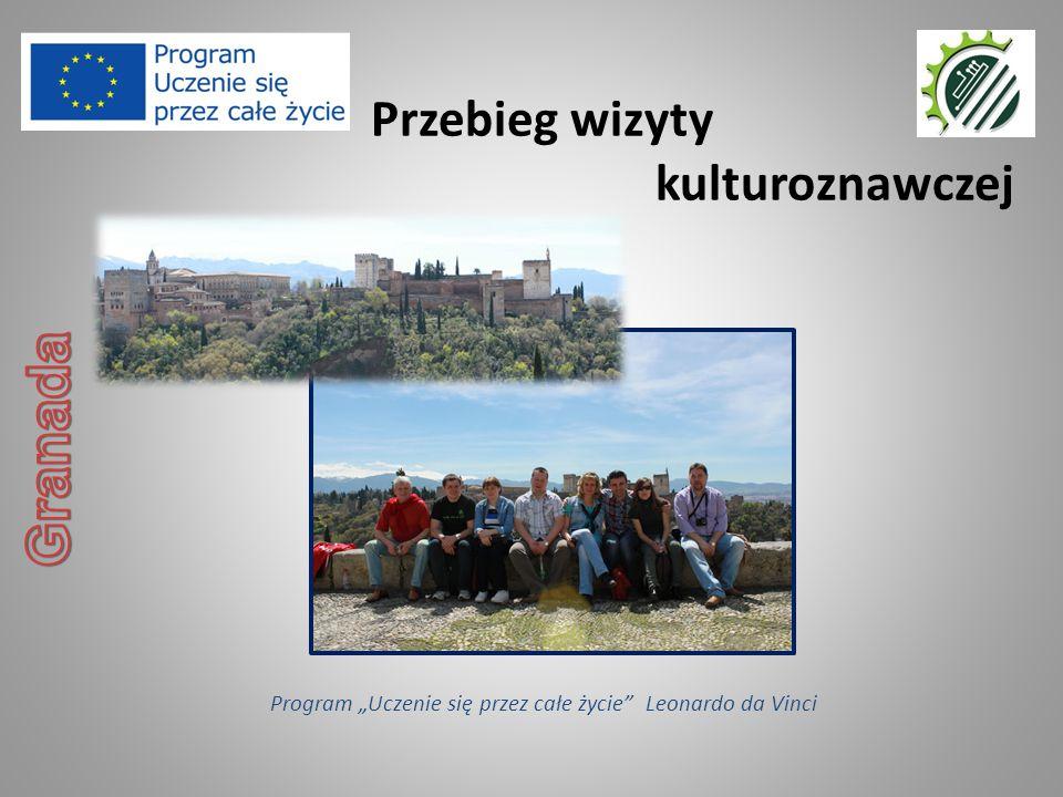 """Przebieg wizyty kulturoznawczej Program """"Uczenie się przez całe życie Leonardo da Vinci"""