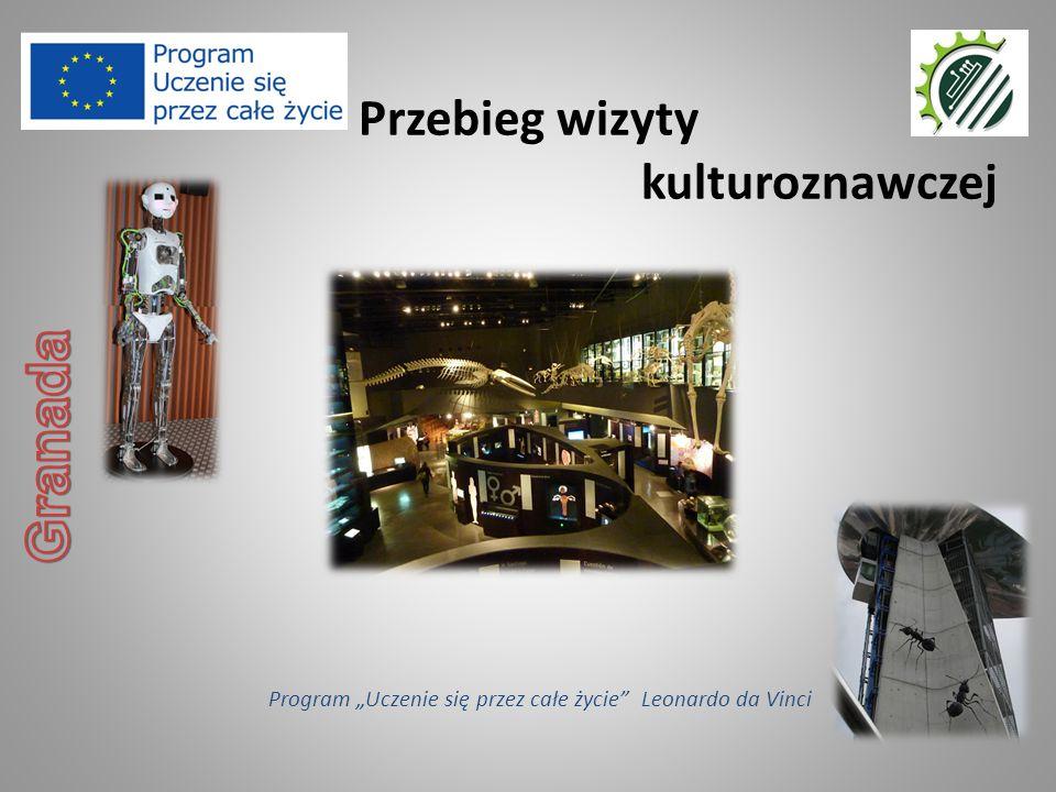 """Przebieg wizyty kulturoznawczej Program """"Uczenie się przez całe życie"""" Leonardo da Vinci"""