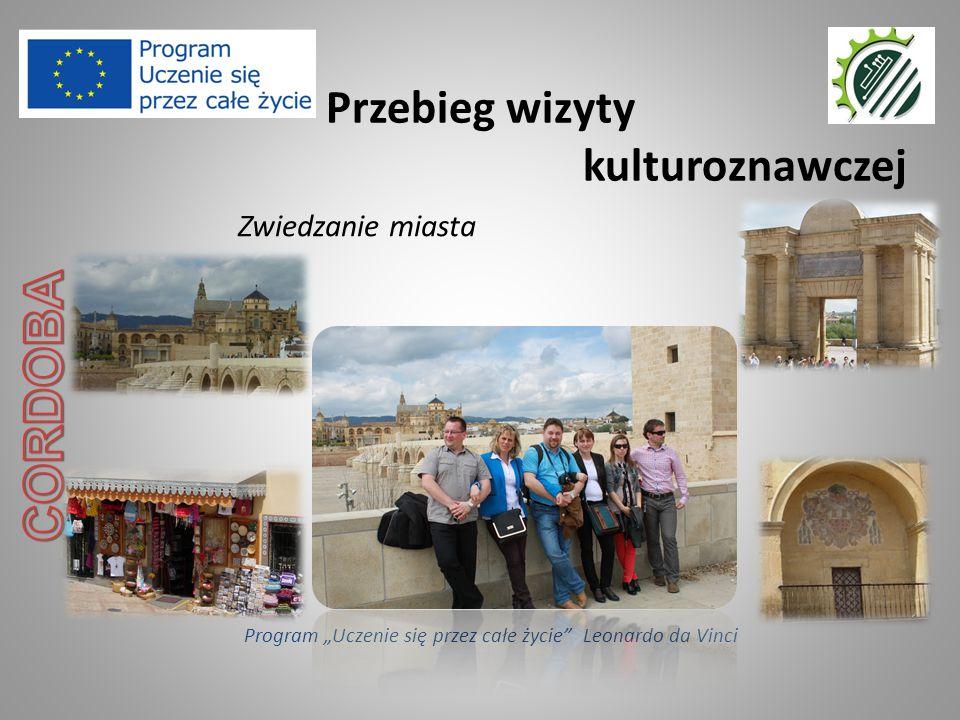"""Przebieg wizyty kulturoznawczej Program """"Uczenie się przez całe życie Leonardo da Vinci Zwiedzanie miasta"""