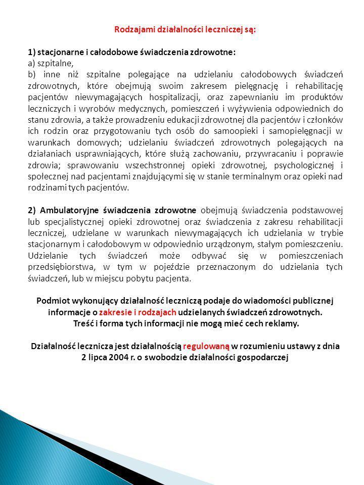 Regulamin organizacyjny podmiotu leczniczego Poradnia Lekarska …………… Spółka jawna.