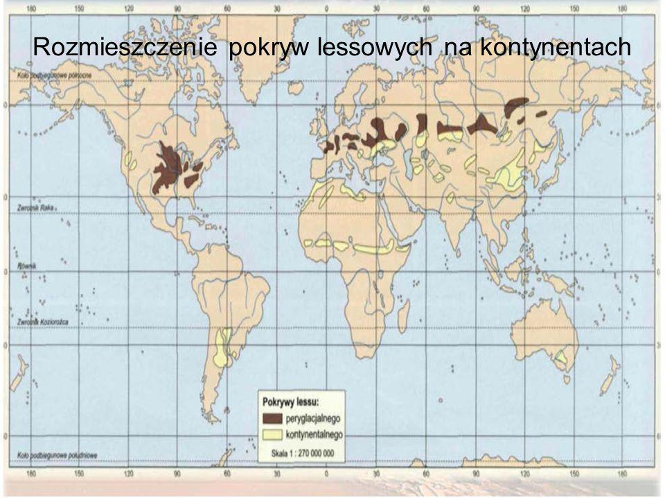Rozmieszczenie pokryw lessowych na kontynentach